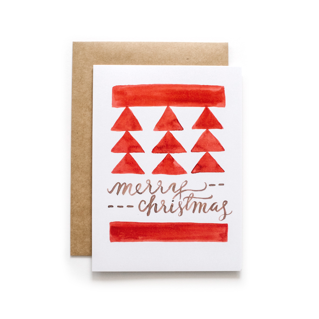Hand Lettered Christmas Cards